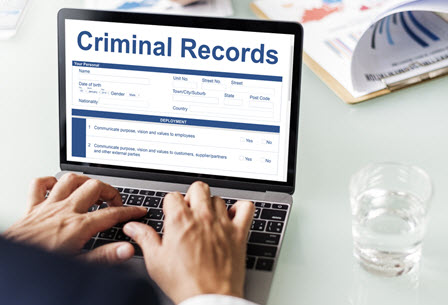 employer running criminal background check on job applicant