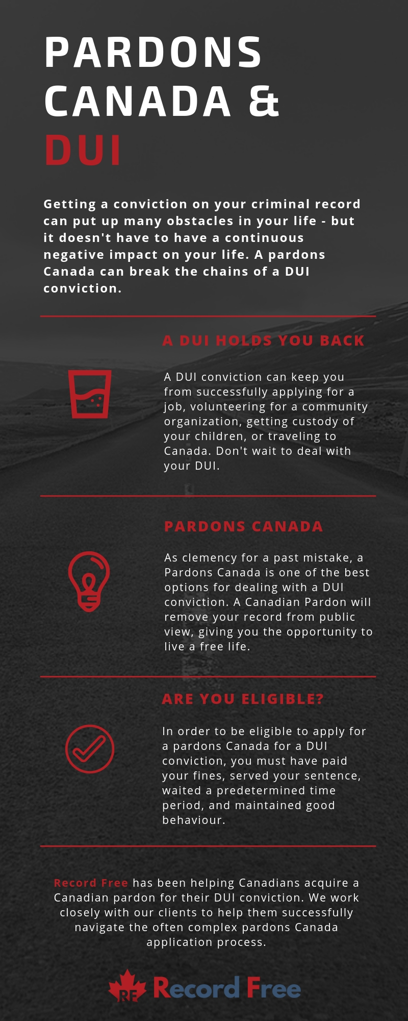 record free DUI pardons Canada Infographic